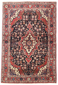 Jozan Teppe 110X160 Ekte Orientalsk Håndknyttet Beige/Svart (Ull, Persia/Iran)
