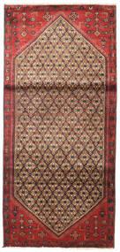 Hamadan Matta 93X200 Äkta Orientalisk Handknuten Mörkröd/Brun (Ull, Persien/Iran)