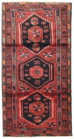 Zanjan Matta 105X200 Äkta Orientalisk Handknuten Mörkröd/Brun (Ull, Persien/Iran)