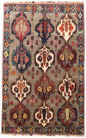 Shiraz Tapete 175X275 Oriental Feito A Mão Castanho Claro/Vermelho Escuro (Lã, Pérsia/Irão)