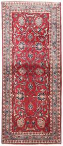 Kashmar Rug 82X197 Authentic  Oriental Handknotted Hallway Runner  Crimson Red/Light Grey (Wool, Persia/Iran)