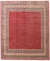 Sarough Mir Matta 227X270 Äkta Orientalisk Handknuten Roströd/Mörkröd (Ull, Persien/Iran)