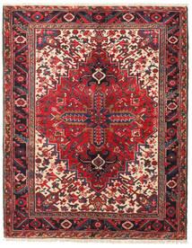 Heriz Vloerkleed 138X174 Echt Oosters Handgeknoopt Donkerrood/Donkerpaars (Wol, Perzië/Iran)