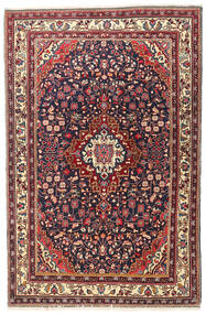 Jozan Rug 107X167 Authentic Oriental Handknotted Brown/Beige (Wool, Persia/Iran)