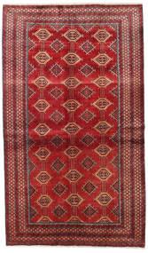 Beluch Matta 133X226 Äkta Orientalisk Handknuten Mörkröd/Roströd (Ull, Persien/Iran)