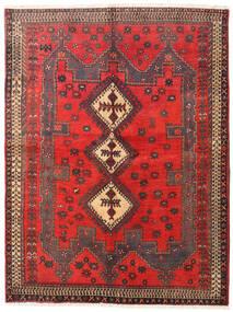 Afshar/Sirjan Tapete 160X210 Oriental Feito A Mão Vermelho Escuro/Castanho Escuro (Lã, Pérsia/Irão)