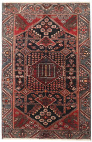 Saveh Rug 130X198 Authentic  Oriental Handknotted Dark Red/Black (Wool, Persia/Iran)