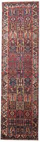 バクティアリ 絨毯 110X410 オリエンタル 手織り 廊下 カーペット 深紅色の/濃い紫 (ウール, ペルシャ/イラン)