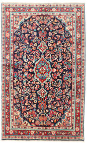 Mahal Alfombra 127X206 Oriental Hecha A Mano Púrpura Oscuro/Beige (Lana, Persia/Irán)