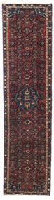 Hamadã Patina Tapete 50X202 Oriental Feito A Mão Tapete Passadeira Vermelho Escuro/Cinza Escuro (Lã, Pérsia/Irão)