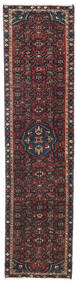 Hamadan Patina Alfombra 50X202 Oriental Hecha A Mano Rojo Oscuro/Gris Oscuro (Lana, Persia/Irán)