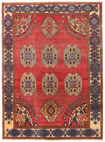 Shiraz Patina Rug 155X212 Authentic  Oriental Handknotted Rust Red/Dark Red (Wool, Persia/Iran)