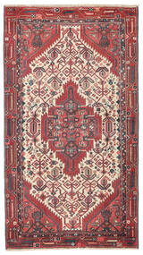 ハマダン パティナ 絨毯 95X168 オリエンタル 手織り 深紅色の/錆色 (ウール, ペルシャ/イラン)