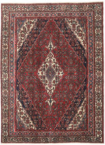 Hamadan Patina Matta 203X273 Äkta Orientalisk Handknuten Mörkröd/Mörkgrå (Ull, Persien/Iran)