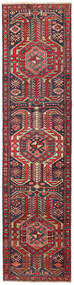 Ardebil Patina Rug 72X297 Authentic Oriental Handknotted Hallway Runner Dark Red/Brown (Wool, Persia/Iran)