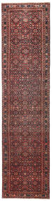 Hosseinabad Patina Rug 79X317 Authentic Oriental Handknotted Hallway Runner Dark Red/Dark Brown (Wool, Persia/Iran)