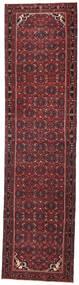 Hamadan Patina Alfombra 105X410 Oriental Hecha A Mano Rojo Oscuro/Negro (Lana, Persia/Irán)