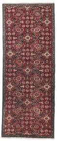 Hamadan Patina Rug 67X170 Authentic Oriental Handknotted Hallway Runner Dark Red/Brown (Wool, Persia/Iran)
