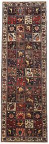 Bakhtiar Patina Alfombra 112X347 Oriental Hecha A Mano Rojo Oscuro/Negro/Marrón Claro (Lana, Persia/Irán)