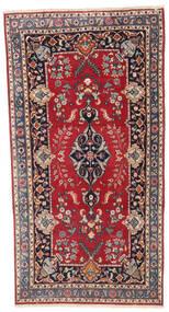 Kashmar Patina Dywan 92X180 Orientalny Tkany Ręcznie Chodnik Ciemnoczerwony/Ciemnofioletowy (Wełna, Persja/Iran)