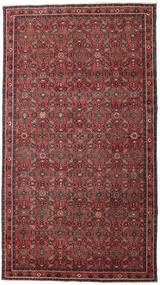Hosseinabad Patina Matto 163X290 Itämainen Käsinsolmittu Käytävämatto Tummanpunainen/Musta (Villa, Persia/Iran)