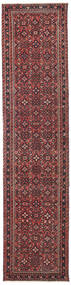 Hamadan Patina Rug 75X319 Authentic  Oriental Handknotted Hallway Runner  Dark Red/Brown (Wool, Persia/Iran)