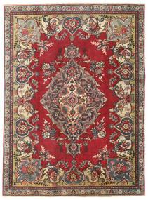 Tabriz Patina Matto 130X177 Itämainen Käsinsolmittu Tummanharmaa/Punainen (Villa, Persia/Iran)