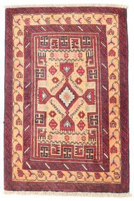 Beludż Dywan 70X100 Orientalny Tkany Ręcznie Rdzawy/Czerwony/Ciemnofioletowy (Wełna, Persja/Iran)