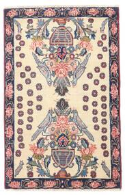 Afshar/Sirjan Tæppe 60X100 Ægte Orientalsk Håndknyttet Beige/Lysegrå (Uld, Persien/Iran)