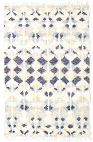 Barchi/Moroccan Berber - Indisch Teppich  156X243 Echter Moderner Handgeknüpfter Beige/Weiß/Creme (Wolle, Indien)