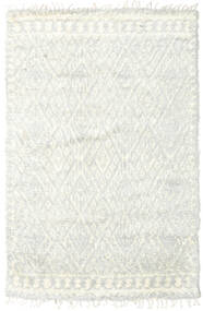Barchi/Moroccan Berber - Indo Alfombra 156X241 Moderna Hecha A Mano Beige/Blanco/Crema (Lana, India)