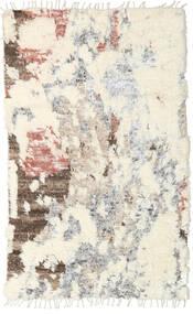 Barchi/Moroccan Berber - Indo Tapis 150X241 Moderne Fait Main Beige/Gris Clair (Laine, Inde)