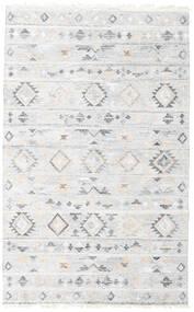 Pet Yarn Kilim Dywan 160X230 Nowoczesny Tkany Ręcznie Biały/Creme/Jasnoszary ( Indie)