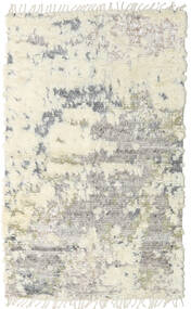 Barchi/Moroccan Berber - Indisch Teppich  147X240 Echter Moderner Handgeknüpfter Beige/Dunkel Beige/Hellgrau (Wolle, Indien)