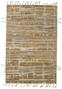 Barchi/Moroccan Berber - Indo Matto 157X240 Moderni Käsinsolmittu Vaaleanruskea/Vaaleanharmaa (Villa, Intia)