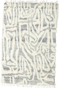 Barchi/Moroccan Berber - Indo Alfombra 153X235 Moderna Hecha A Mano Gris Claro/Blanco/Crema/Beige (Lana, India)