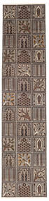 Bakhtiari Patina Rug 70X307 Authentic  Oriental Handknotted Hallway Runner  Light Grey/Dark Brown (Wool, Persia/Iran)