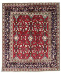 Tebriz Patina Dywan 195X232 Orientalny Tkany Ręcznie Ciemnofioletowy/Czerwony (Wełna, Persja/Iran)