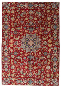 Najafabad Patina Rug 220X317 Authentic  Oriental Handknotted Dark Red/Dark Brown (Wool, Persia/Iran)
