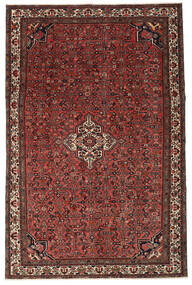 Hosseinabad Patina Rug 214X326 Authentic  Oriental Handknotted Dark Red/Dark Brown (Wool, Persia/Iran)