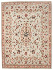 Yazd Patina Teppe 191X251 Ekte Orientalsk Håndknyttet Mørk Beige/Lysbrun (Ull, Persia/Iran)