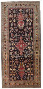 Ardebil Patina Teppe 133X284 Ekte Orientalsk Håndknyttet Teppeløpere Mørk Brun/Mørk Rød (Ull, Persia/Iran)