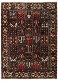 Bachtiar Patina Teppich 146X197 Echter Orientalischer Handgeknüpfter Schwartz/Dunkelrot (Wolle, Persien/Iran)