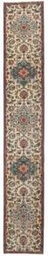 タブリーズ パティナ 絨毯 65X404 オリエンタル 手織り 廊下 カーペット 薄い灰色/濃いグレー (ウール, ペルシャ/イラン)