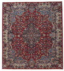Mashad Patina Rug 250X283 Authentic  Oriental Handknotted Dark Red/Dark Grey Large (Wool, Persia/Iran)