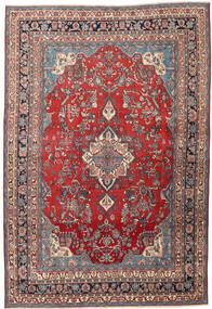 Hamadan Patina Rug 213X312 Authentic  Oriental Handknotted Dark Red/Dark Grey (Wool, Persia/Iran)