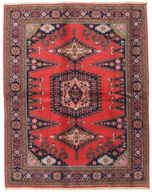 Wiss Matta 166X212 Äkta Orientalisk Handknuten Mörkröd/Svart (Ull, Persien/Iran)