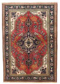 Tabriz Teppe 96X143 Ekte Orientalsk Håndknyttet Mørk Rød/Mørk Brun (Ull, Persia/Iran)