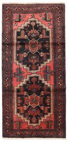 Zanjan Tappeto 96X202 Orientale Fatto A Mano Nero/Rosso Scuro (Lana, Persia/Iran)