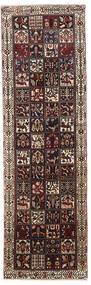 バクティアリ 絨毯 108X360 オリエンタル 手織り 廊下 カーペット 黒/濃い茶色 (ウール, ペルシャ/イラン)